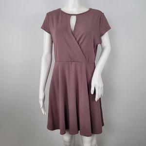 Lulus Wrap Front Cap Sleeve Dress